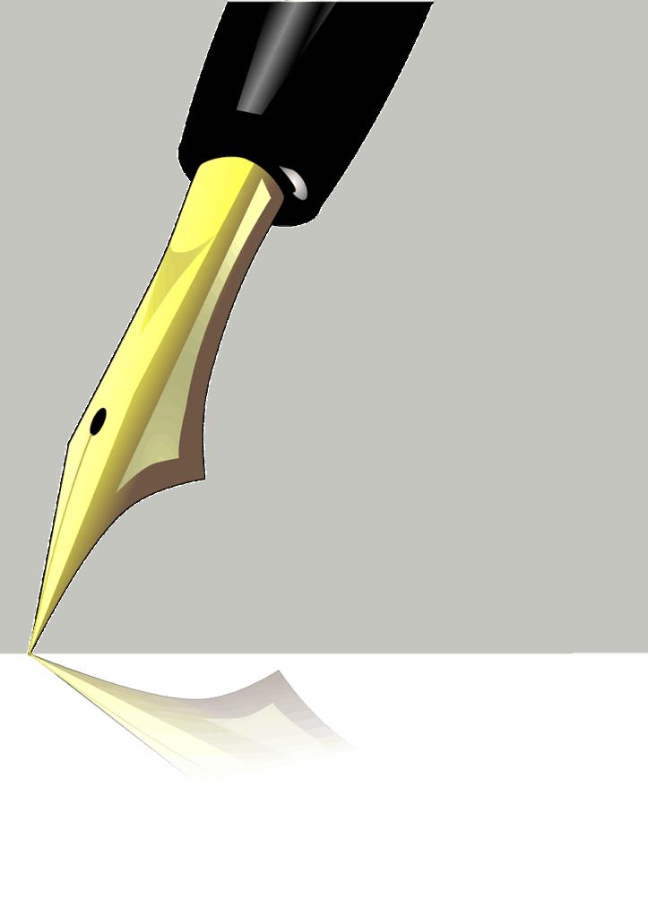 Her vises en tegning af en fyldepen